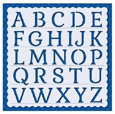 Flexible Stencil *ALPHABET LETTERS* Embossing Pricking Card Making 14.5 x 14.5cm