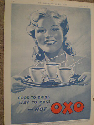 Oxo good to drink easy to make 1942 old art advert