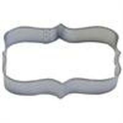 NEW Rectangle Plaque 11cm Cookie Cutter