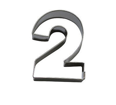 NEW Number 2 6.5 cm  Cookie Cutter Stainless Steel