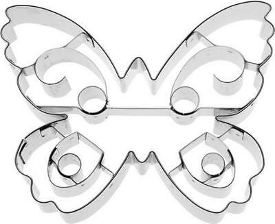 NEW Butterfly With Internal Detail 10cm Cookie Cutter