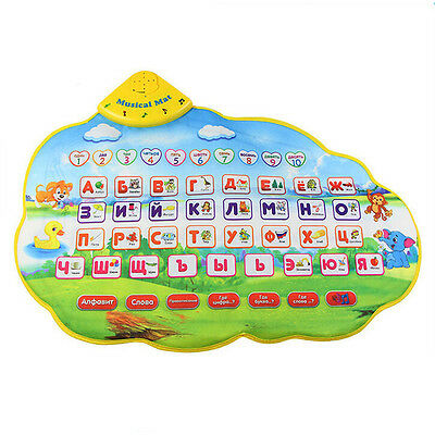 CY Children Learning Mat Russian Language Toy Funny Alphabet Mat Carpet ABC Toy