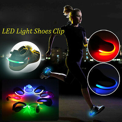 Sport LED Luminous Jogging Light Shoes Clip Night Safety Running Cycling Warning