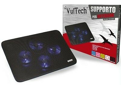 "Supporto Portatile Pc Notebook Da 10"" A 17"" Ventola Raffreddamento Vultech Sn-04"