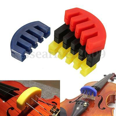 Rubber Color Practice Mute Silencer Volume Control For Violin Strings Acoustic