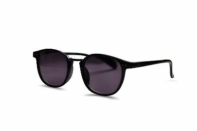 Black Clubmaster Style Sun Readers UVA & UVB Tinted Reading Sunglasses 629
