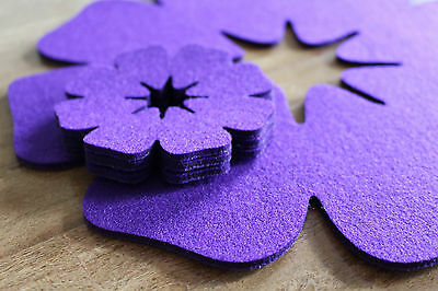 Hand Made Placemats Flowers Felt Table Mats Set of 8 Pieces  11,5 x 11,5 inch