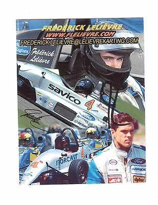 Racing Car Driver Frederick Lelievre Autographed Photocard !! 2