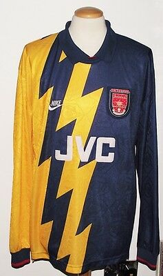 VINTAGE ARSENAL 1995 3rd SHIRT SIZE XL EXCELLENT CONDITION PROTOTYPE