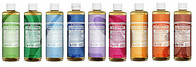 Dr Bronner Organic Moisturising Pure Castile Liquid Natural Vegan Soap 473ml