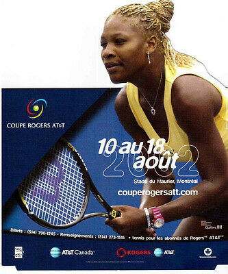 Serena Williams 2002 Tennis Rogers Cup Pop-Up Advertising !!