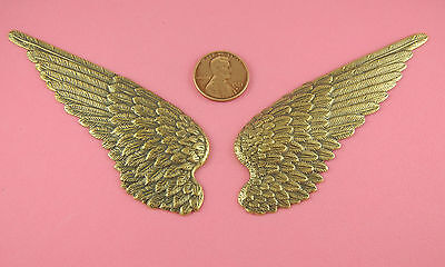 DETAILED LARGE BRASS OX WING PAIR LEFT & RIGHT - 2 PC(s)