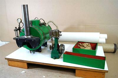 KIT BUILT LIVE STEAM LARGE MARINE SCOTCH BIOLER STUART TURNER VERTICAL ENGINE na