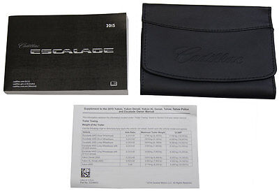 Other car manuals car truck manuals manuals literature parts 2015 cadillac escaladeesv us owners manual book wleather case new 23248420 fandeluxe Gallery