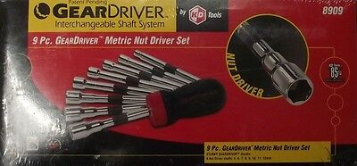 KD Tools 8909 GearDriver Metric Nut Driver Set - 9-Piece