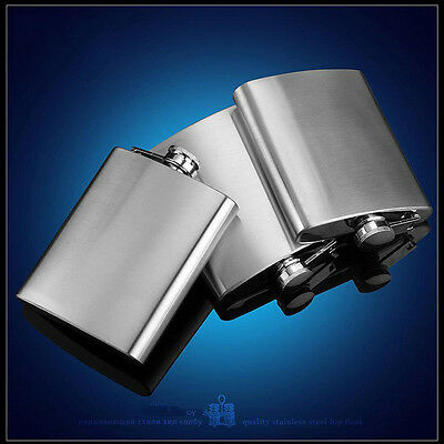 Stainless Steel Portable Drink Hip Alcohol Liquor Flask Wine Pot Flagon 1-10 OZ