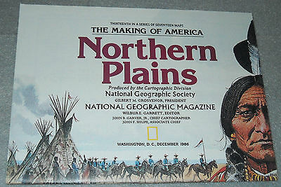 The Making of America Northern Plains National Geographic Map December 1986