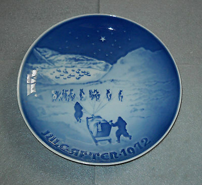 Bing & Grondahl Collector Plate Jul I Gronland 1972 Christmas in Greenland