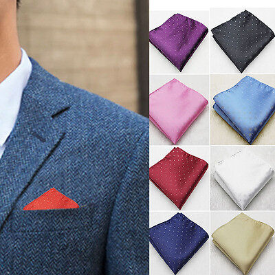 Men Pocket Square Hankerchief Korean Silk Paisley Dot Floral Hanky Wedding Newly
