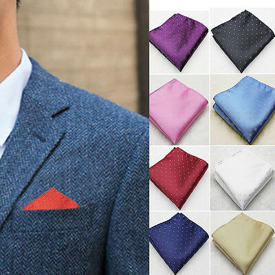 Men Stylish Business Pocket Square Silk Hanky Handkerchief Wedding Suit