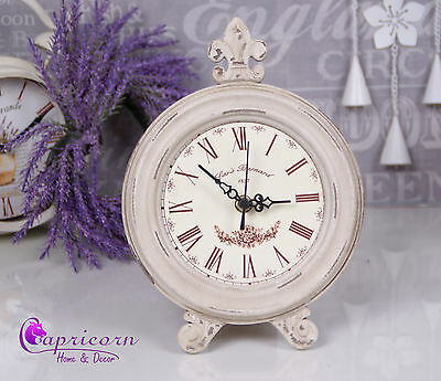 Shabby Chic Looks Wooden Mantle Round Clock Grey Distressed FBLACK FRIDAY
