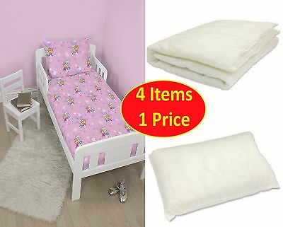 4 in 1 DISNEY FROZEN MAGIC JUNIOR TODDLER COT BED BUNDLE SET GIRLS BABY BEDROOM