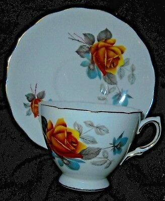 Vintage Royal Vale Bone Chine Teacup and Saucer Ridgway Potteries England