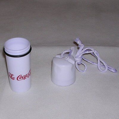 Small Canister w/ Rope/Cord by The Coca-Cola Company designed for beach or pool.