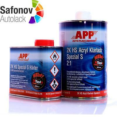 APP 2K HS Clear varnish Special S anti scratch 2:1 1 Liter + 0,5 Litre Lacque