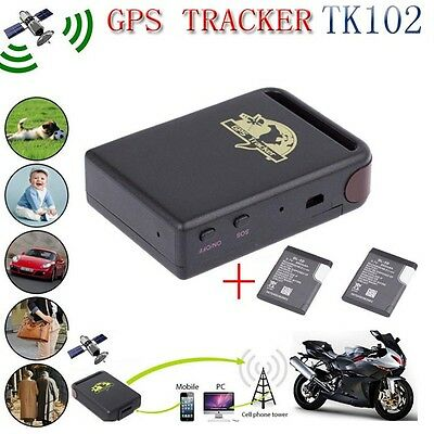 Tk102 Realtime Gps Tracker Car Vehicle Spy Personal Tracking Device 2 Battery