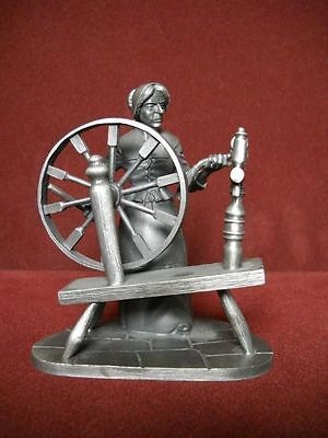 "Franklin Mint Fine Pewter ""The Spinner"" 1975"