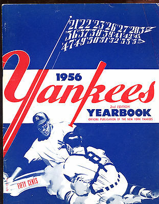 1956 MLB Baseball New York Yankees Yearbook