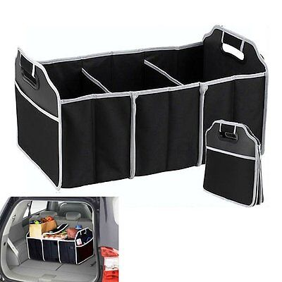 2-in-1 Heavy Duty Collapsible Car Boot Organiser Foldable Shopping Tidy Storage
