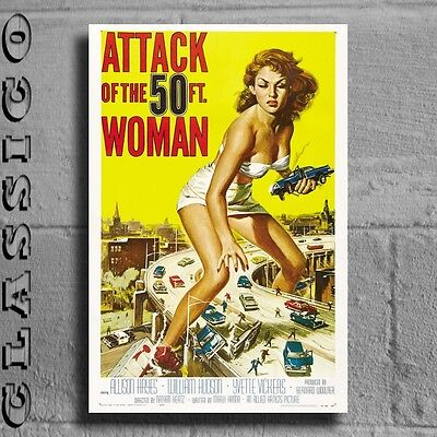 """Attack of the 50ft Woman Poster Giant XXL 36"""" Retro Classic  #496023"""