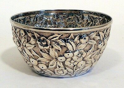 A repousse sterling waste bowl, S. Kirk & Son, c.1880-90.