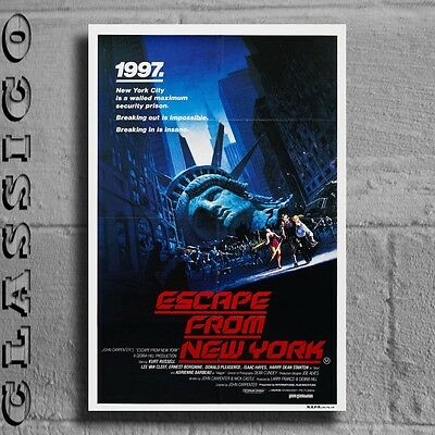 "Escape From New York Poster Giant XXL 36"" Retro Classic  #497231"