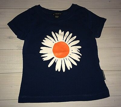 Marimekko Boutique Daisy Navy Blue Tee T Shirt Girls 18 Months