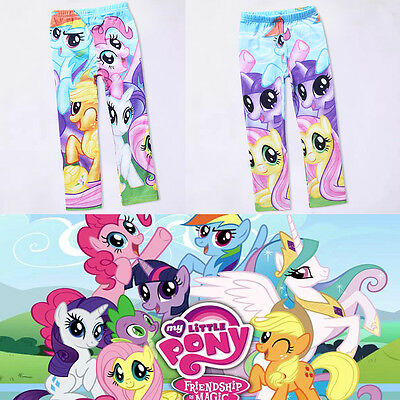 My Little Pony Kids Girls Leggings Pants Cartoon Long Trouser Child Clothes