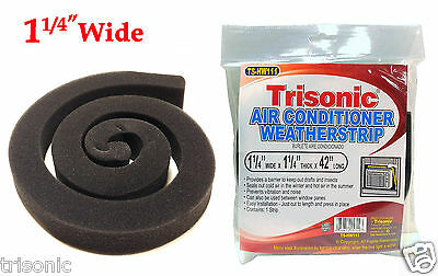 "AC Air Conditioner Weatherstrip 1-1/4"" x 1-1/4"" x 42"" Insulating Strip Seal New"
