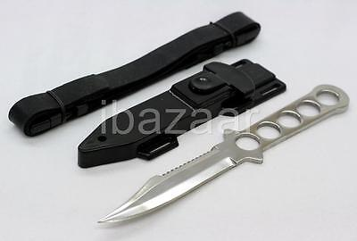 FULL TANG STAINLESS STEEL DIVE KNIFE / Scuba Diving Scabbard Snorkel Hawk