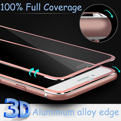 Full Covered Curved Alloy Tempered Glass Screen Protector for iPhone 7 6 6s Plus