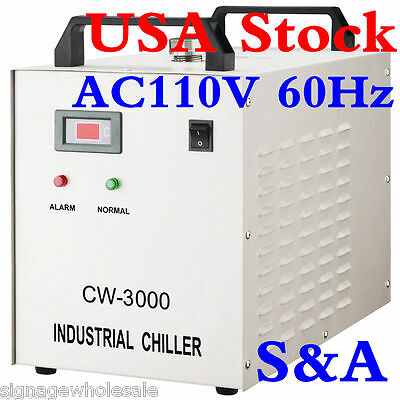 USA STOCK! S&A 110V CW-3000DG Water Chiller for 60/80W Laser Engraving Machine