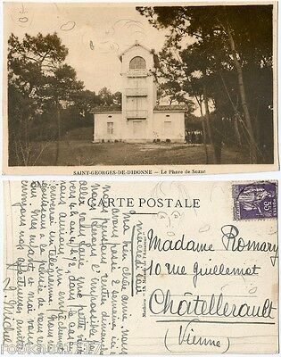 CPA postcard lighthouse Le Phare de Suzac ST GEORGES DE DIDONNE Royan [917 A]