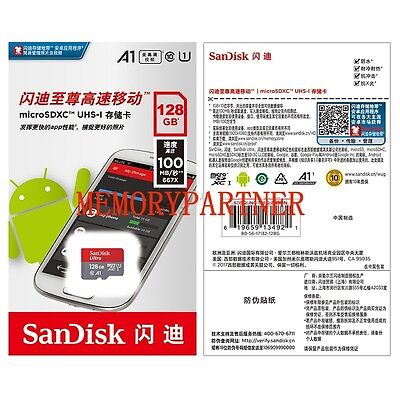 100MB/S 128GB SanDisk Ultra U1 Micro-SD-XC-Karte Class10 For SANMSUNG Huawei
