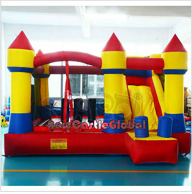 inflatable castle bounce bouncy house with slide jumping obstacle course kids