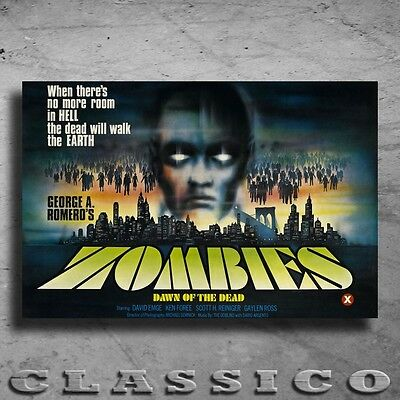 """Zombies Dawn Of The Dead Poster Giant XXL 36"""" Retro Classic  #501159"""