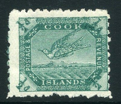 COOK ISLANDS RAROTONGA;  1902 early issue Mint hinged 1/2d. value, shade