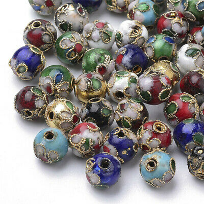 Wholesale 100pcs High Art delicacy cloisonne Jewelry Finding 8mm Spacer Beads