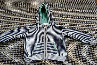 Seed Boys Hooded Cotton Cardigan Sz 9- 12 Months