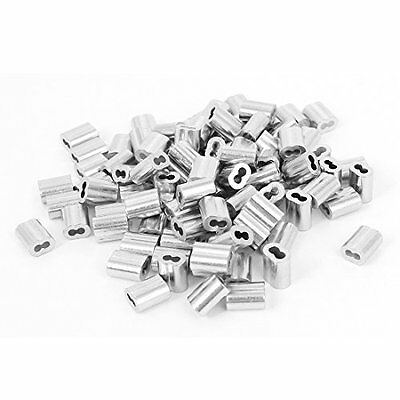 1/16-inch Wire Rope Aluminum Sleeves Clip Fittings Cable Crimps 100pcs